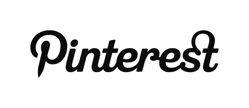 Pinterest logo black