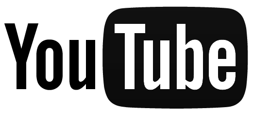 YouTube logo black in color