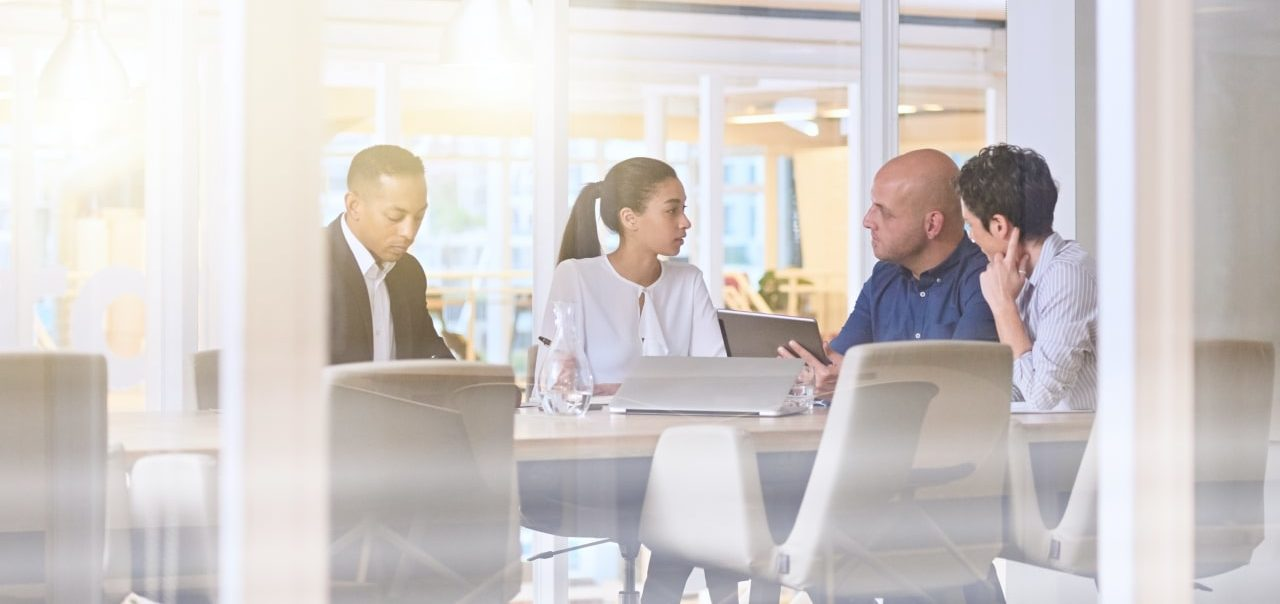 Group of business people meeting in conference room